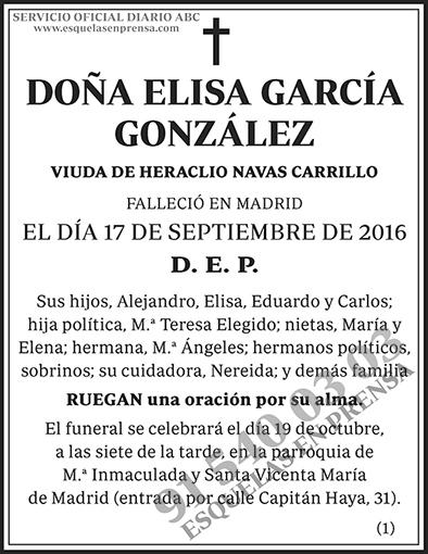 Elisa García González